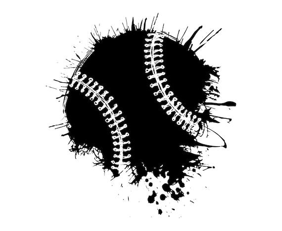 Baseball Ball Ball Baseball Softball Grunge Distressed