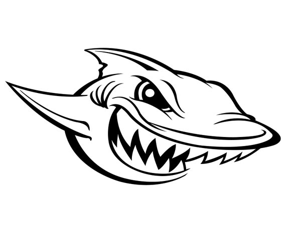 Requin dessin anim grand requin blanc svg graphique etsy - Requin dessin ...