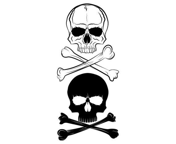 Skull Bones Crossbones Pirate Skeleton Etsy