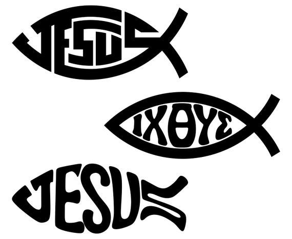 Christian Fish Symbol Christian Jesus Fish Etsy