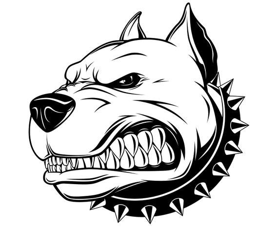 Pitbull Svg Pitbull Silhouette Dog Svg Pitbull Clipart Etsy
