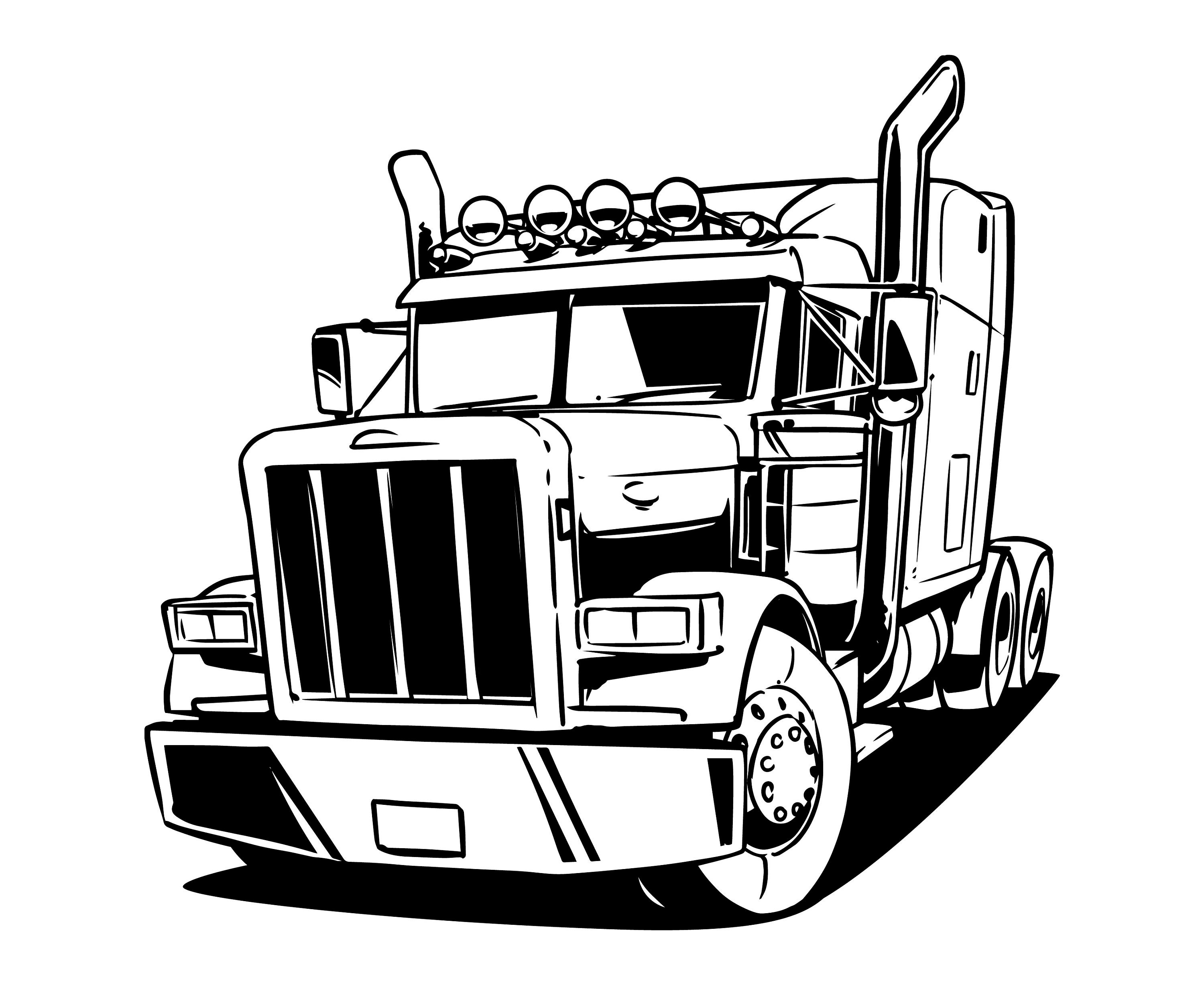 how to set up dimensions for 18 wheeler truck