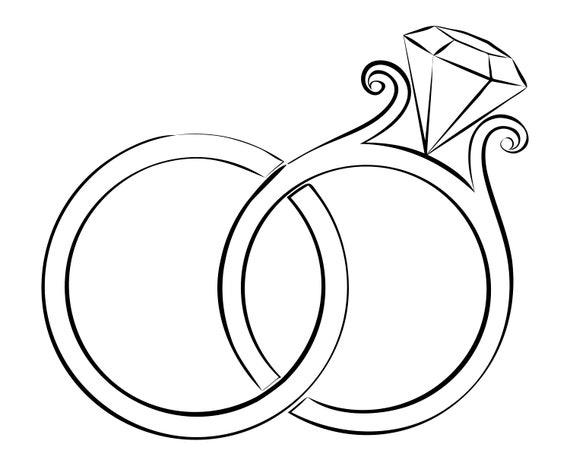 Ehering Diamant Ring Ring Hochzeit Verlobung Silhouette Etsy