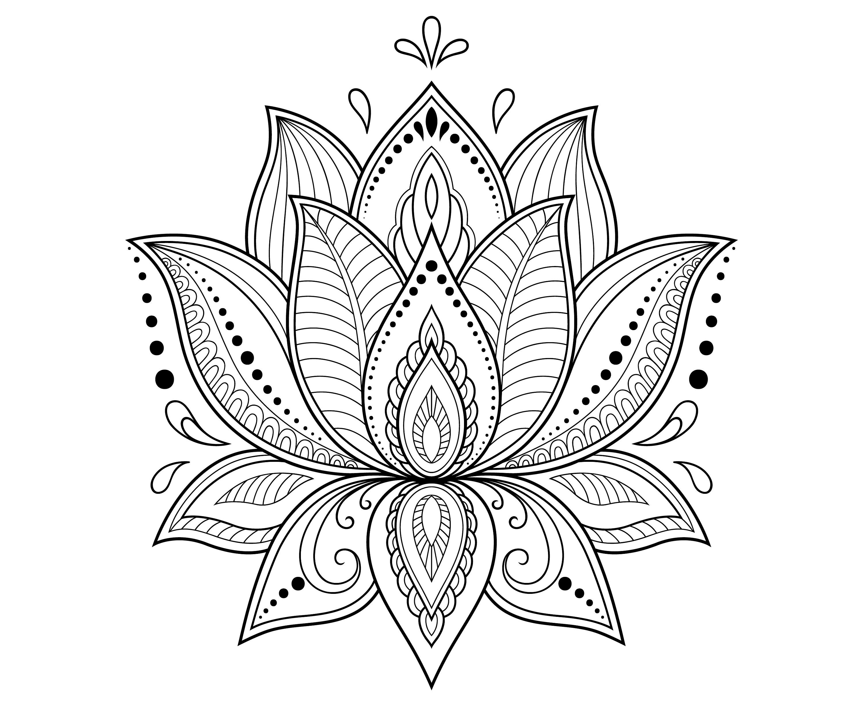 Lotus flower lotus mandala zentangle etsy 50 izmirmasajfo
