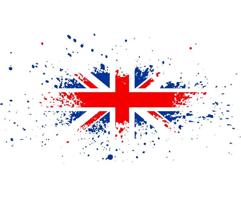 65efc4e14b Union Jack England British Flag Distressed Grunge | Etsy