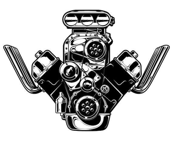 Motor Svg Engine Svg V6 Svg V8 Svg Engine Vehicle Svg Etsy