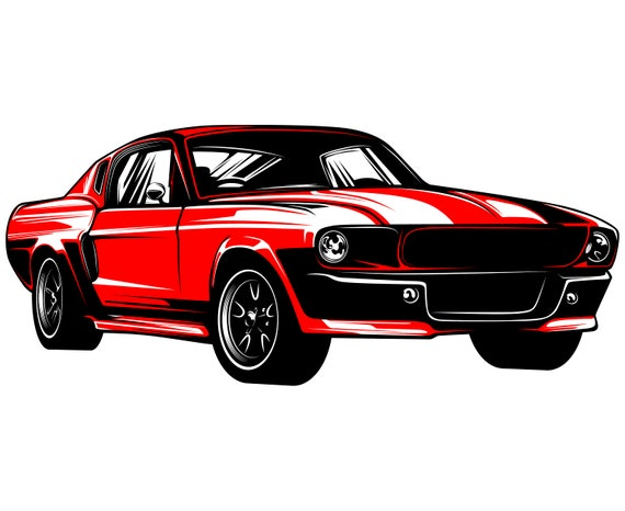 Ford Mustang Svg Mustang Svg Hot Rod Svg 1967 Muscle Car Etsy