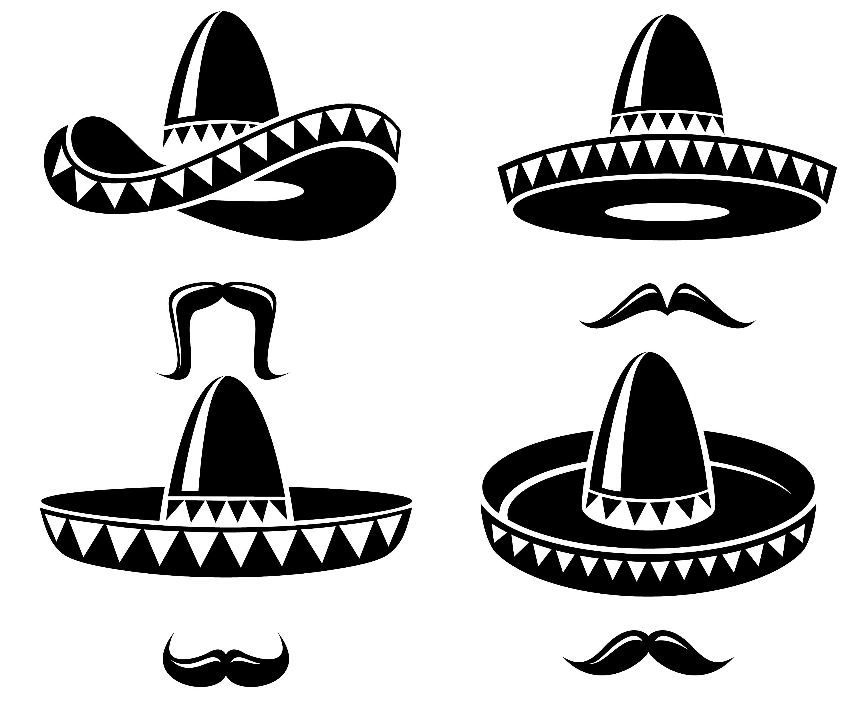 Sombrero Mexican Hat Mustache  0c621348358