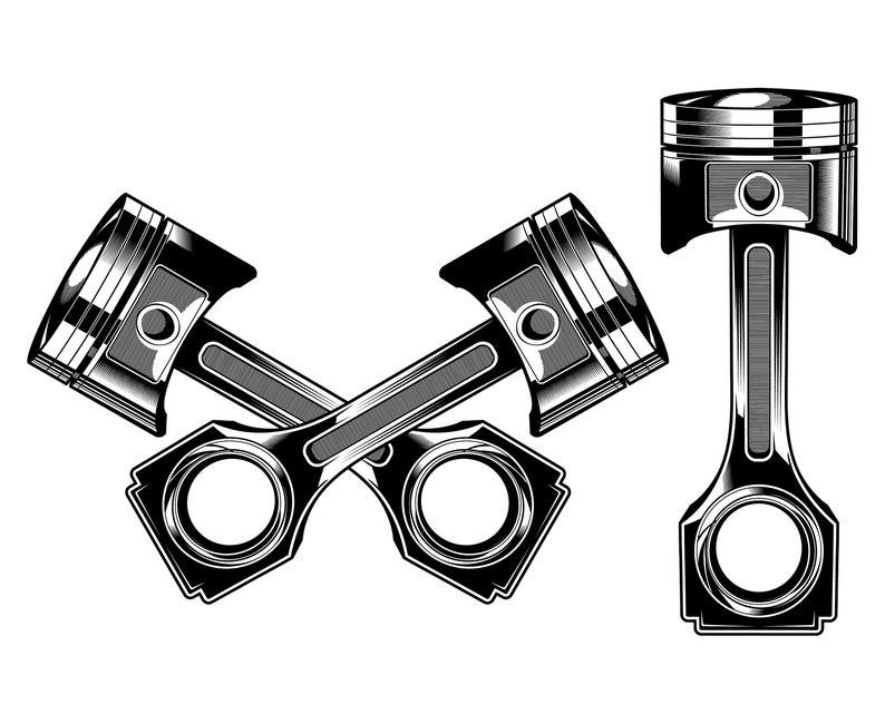 Piston Auto Mechanic Engine Garage
