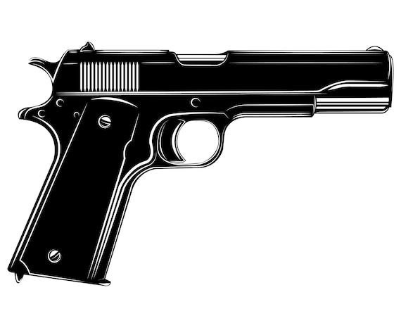 1911 Colt Pistol Weapon Handgun Etsy