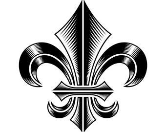 Fleur de lis SVG, Fleur de lys SVG, SVG,Graphics,Illustration,Vector,Logo,Digital