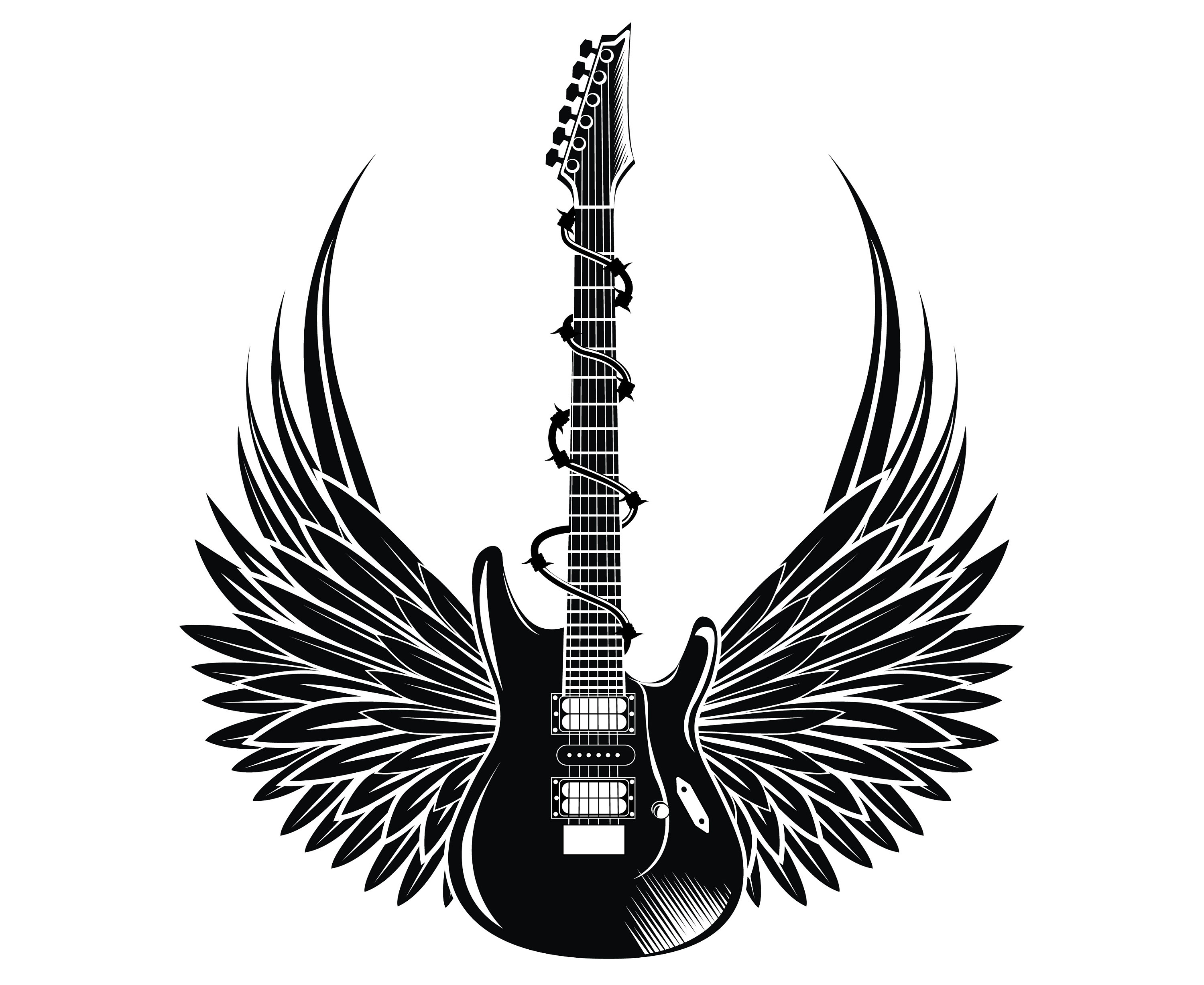 Electric Guitar Wings Guitar Rock And Roll Etsy