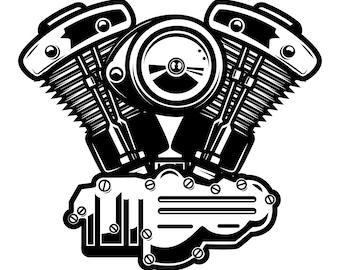 Motorcycle vector | Etsy