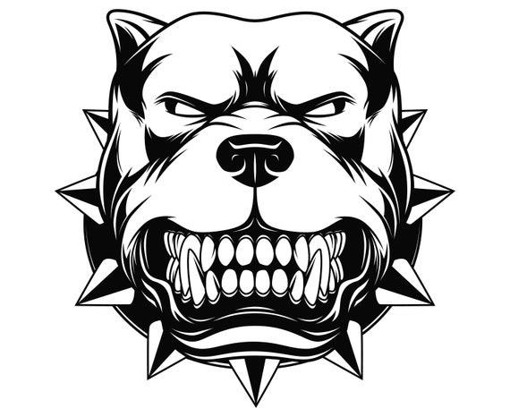 Pitbull Svg Pitbull Silhouette Dog Svg Pitbull Clipart