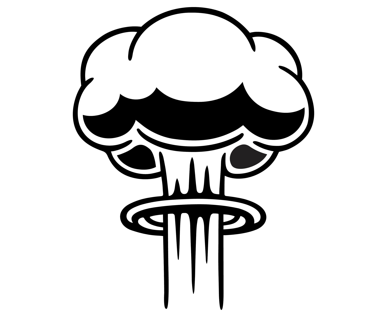 Nuclear explosion, War, Bomb,  Silhouette,SVG,Graphics,Illustration,Vector,Logo,Digital,Clipart