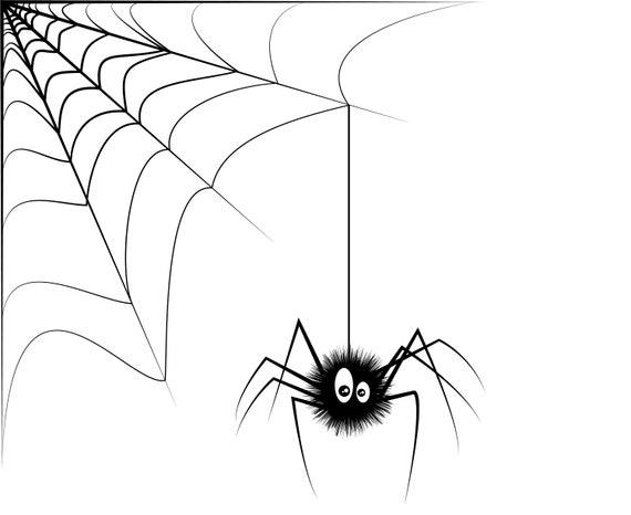 Spider Halloween Spider Web Etsy