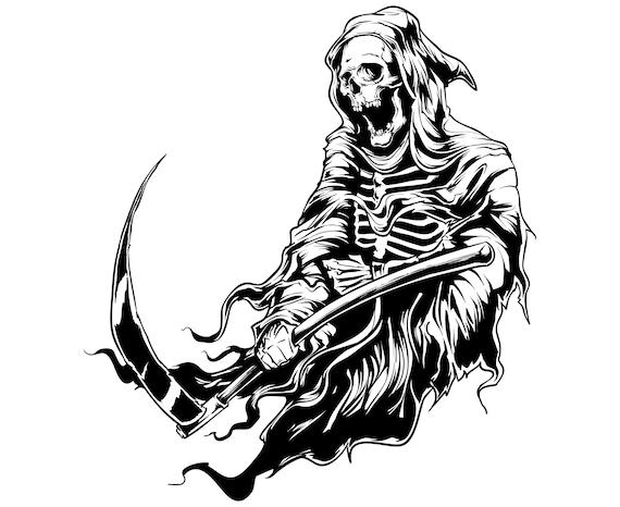 Grim reaper, Halloween, Skeleton, Skull,  SVG,Graphics,Illustration,Vector,Logo,Digital,Clipart