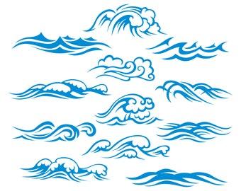 Wave, Ocean waves, Waves, Sea waves, SVG,Graphics,Illustration,Vector,Logo,Digital,Clipart