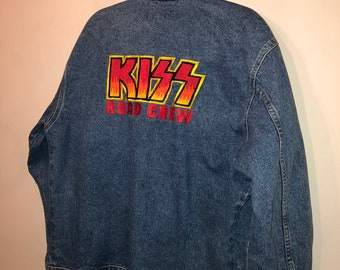100a89aa462 Vintage kiss tour jacket Size L