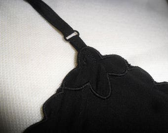 1960s Black Rayon Slip | What every little black dress needs