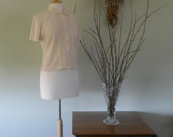 Jane Holly Original 1960s Blouse |  Darling with faux tatting