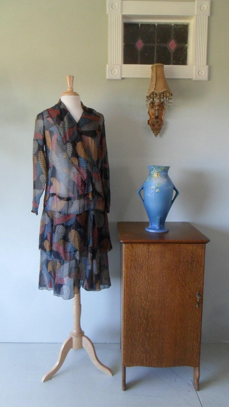ff141e4c8248 1920s Cotton Voile Drop Waist Dress Bias hem for levity and | Etsy