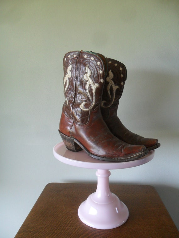 1950s Cowboy Boots by 101 | Brown vamps and shafts