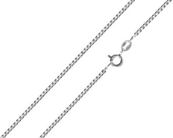 Sterling Silver Girls .8mm Box Chain NEW MEXICO State Pendant Necklace