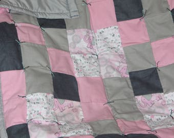 Handmade Baby Quilts (Pink & Gray)