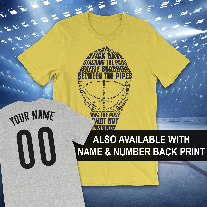4805808ea15 Hockey Goalie Mask Typography T-Shirt Hockey Goalie T-Shirt