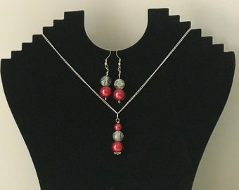 Berry and Ice earrings