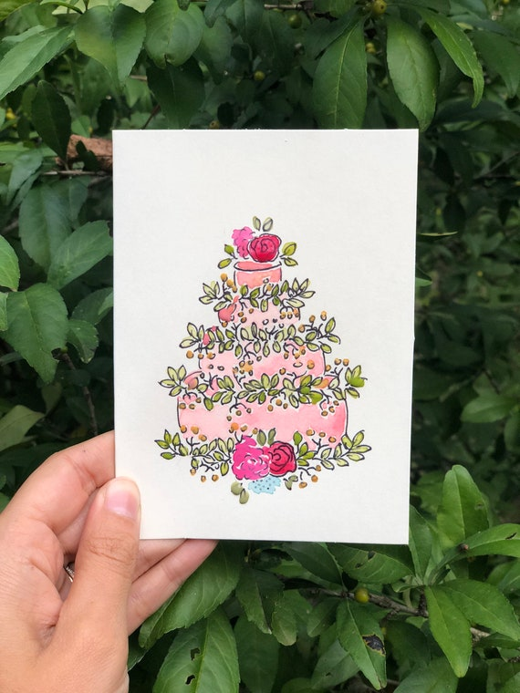 8 Have Your Cake Cards Hand Painted Birthday