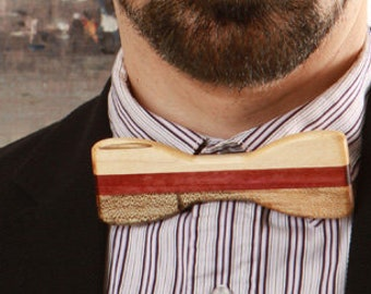 Bow tie, exotic wood, Ambrosia and amaranth
