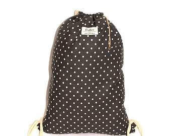 Ochos | Dots Dark Gray Sack Bag