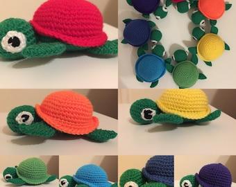 Turtle medium crochet pattern (Amigurumi)