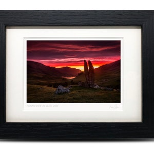 A6 Framed Scottish Fine Art Photo Print by Neil Barr of NB Photography A6 Holyrood Park Edinburgh Arthurs Seat Scotland 7 x 5
