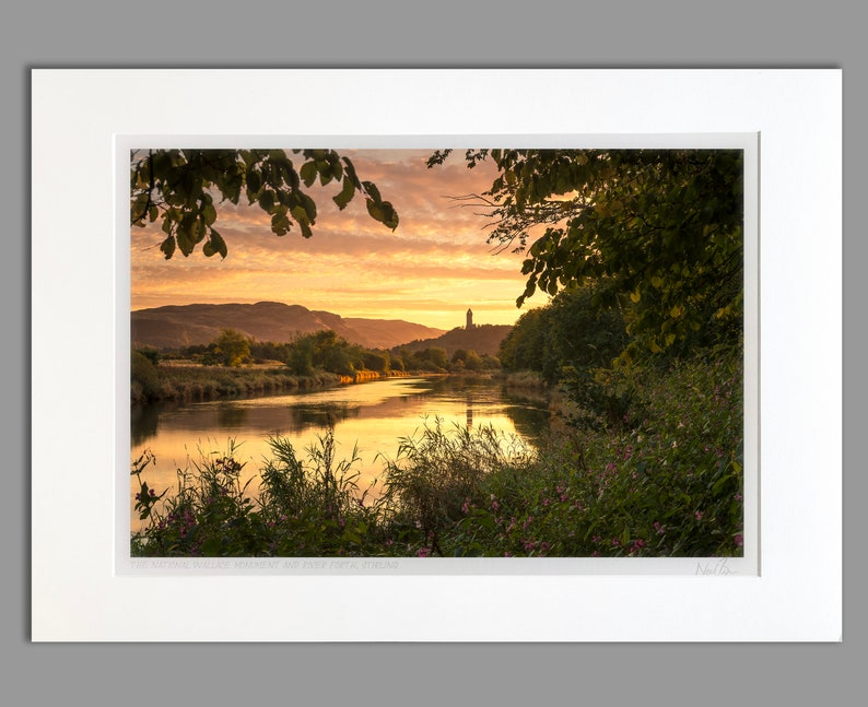 70x50cm A2 A2 The Wallace Monument Stirling Scotland Unframed Scottish Fine Art Photo Print by Neil Barr of NB Photography