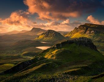 "A4 Print - ""Dawn View from the Quiraing"" - Fine art landscape photography print"