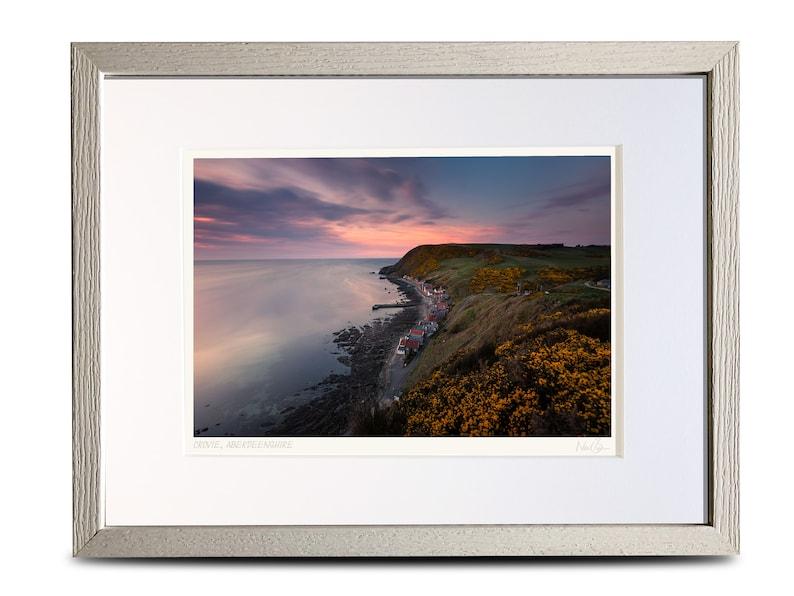 Scotland A4 The historic fishing village of Crovie Framed Scottish Fine Art Photo Print by Neil Barr 40x30cm Aberdeenshire A4