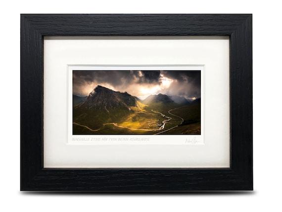 A6 Buachaille Etive M\u00f2r A6 Scotland Framed Scottish Fine Art Photo Print by Neil Barr of NB Photography Glen Coe in snow 7 x 5