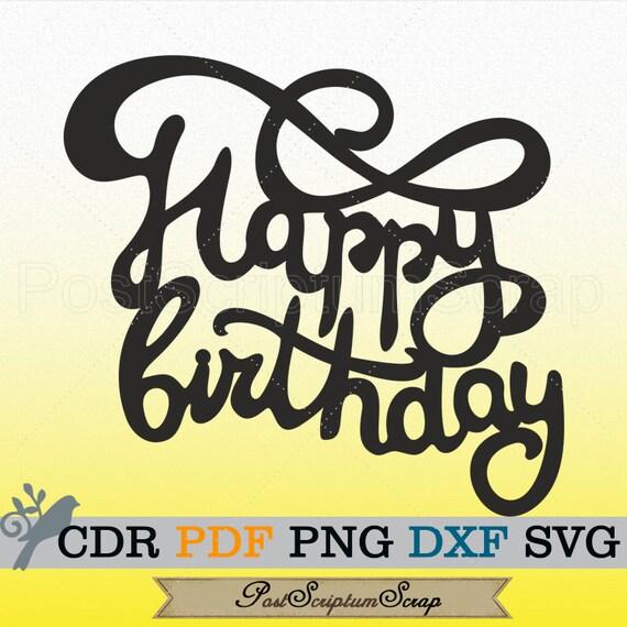 Birthday Svg Party Decoration Happy Birthday Banner Card Etsy