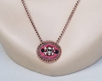 Necklace with Skull and Crossbones Pendant