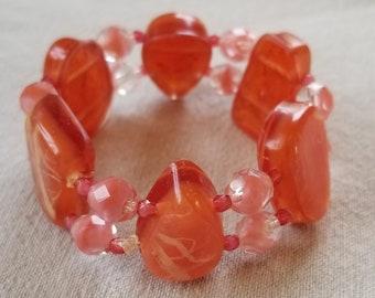 Pink Glitter Resin Bracelet