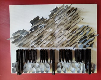 Raincloud Art, 3-D Cloud Wall Art, Cloud Art on Canvas, Wall Art, 3-D Wall Art, Wall Decor, Cloud Decor