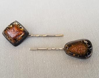 Set of Three Resin Bobby Pins