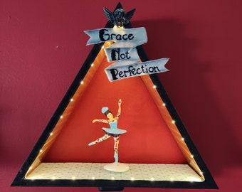 Dancing Ballerina Lighted Shadowbox