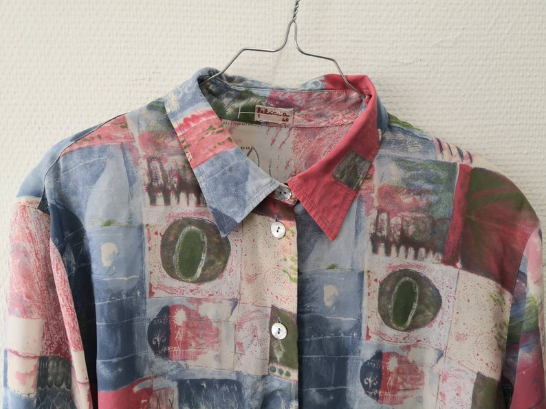 XL Vintage blouse with cool print