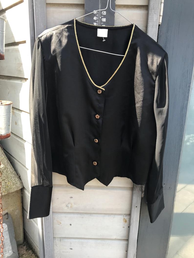 Vintage Black BlouseBlazer