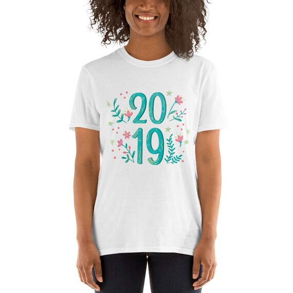 2019 floral neuf manches ans manches neuf courtes T-Shirt unisexe 8d8769