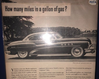 Vintage 1952 Roadmaster by Buick Ad